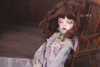 QQ-84B  Teddy Brown Hiar BJD Doll Synthetic Mohair Wig  1//6;1//4   DOLLYPLANET