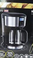 Russell Hobbs 20680-56 Buckingham Glas Kaffeemaschine Schwarz/silber