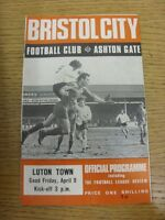 09/04/1971 Bristol City v Luton Town  (Light Crease,Fold). Condition: Listed pre