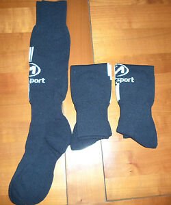 """3 Paires Chaussettes Football """"madsport """" Noires T 37-40 Neuf"""