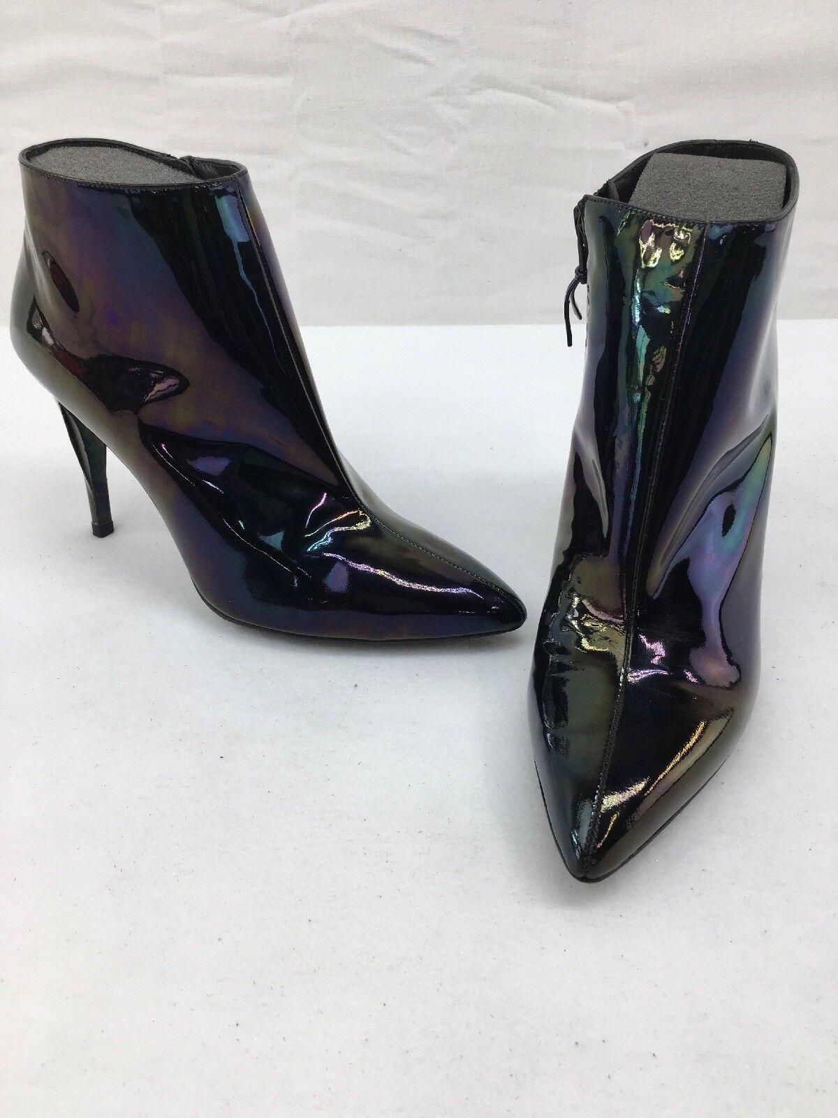 Stuart Weitzman Iridescent Patent Leather Stiefelie Pumps Größe 8M F1270