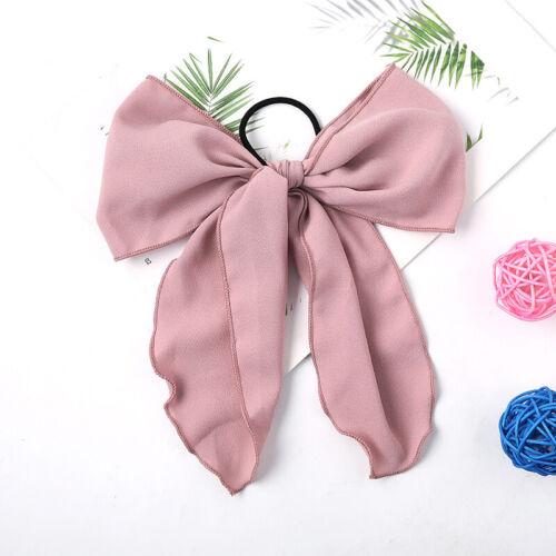 Chiffon Bow Hair For Women Girl Scrunchies Streamers Bowknot Hair Rope Hair Ties
