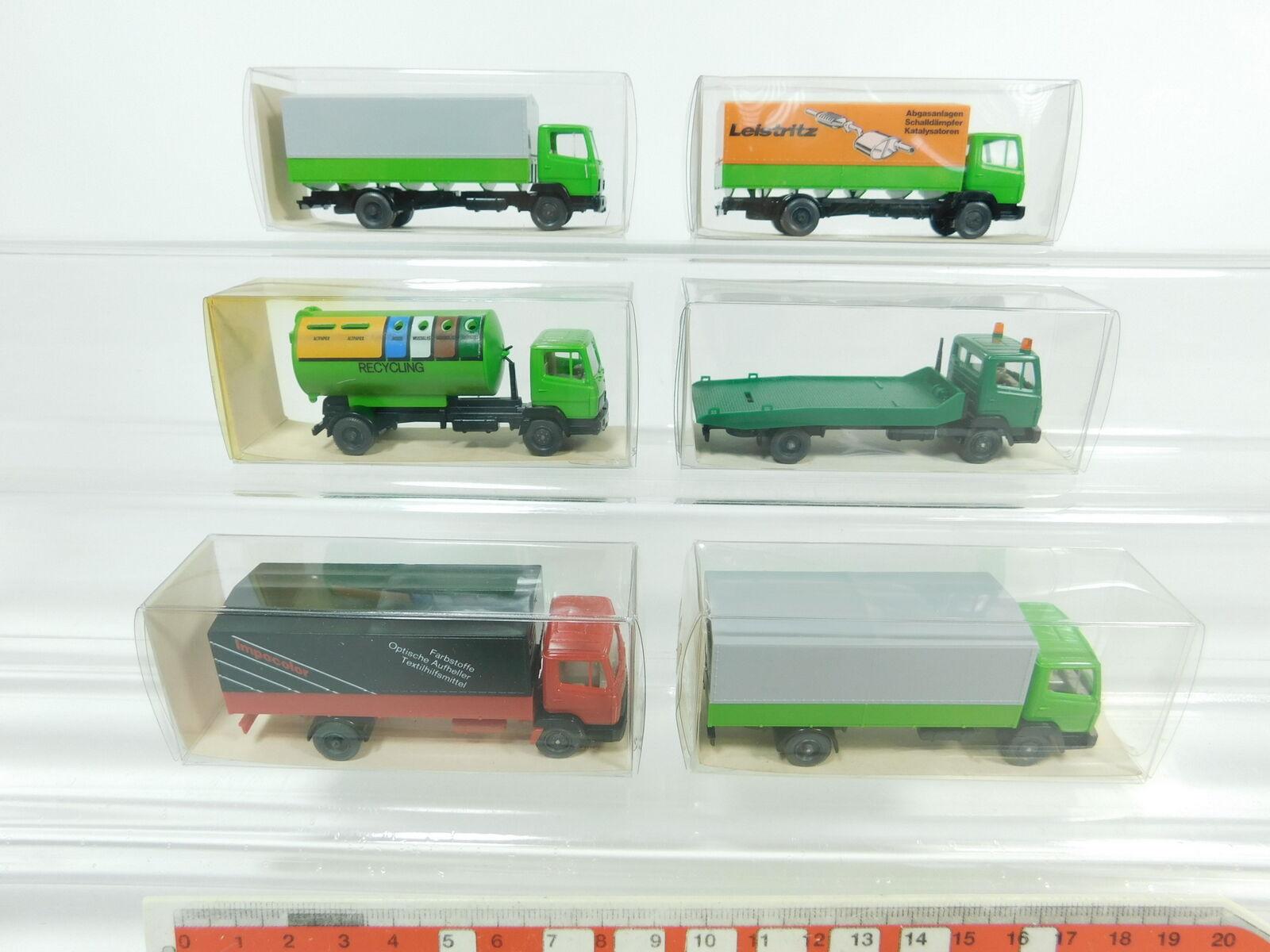BD321-0,5x Wiking H0 1 87 LKW Mercedes MB MB MB  431+633+643 Recycling, NEUW+OVP 5bd38a