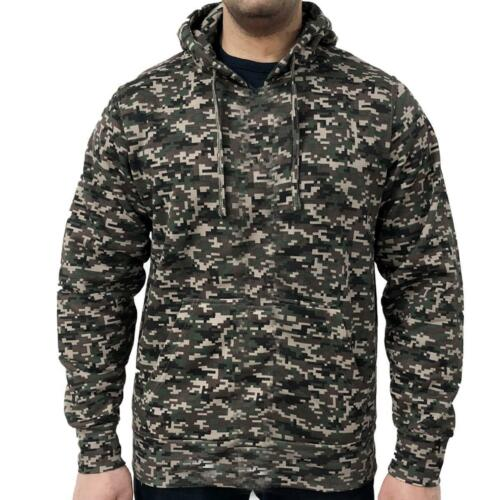 Mens Digital Camouflage Pullover Hoodie Camo Army Hunting Game Hooded Top