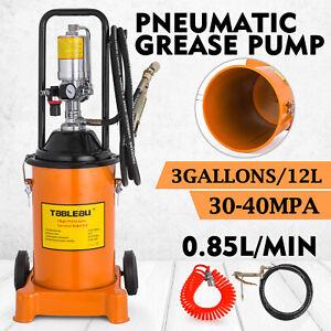 3-Gallon-Grease-Pump-Air-Pneumatic-12L-Wheels-50-1-Pressure-Ratio-Spray-Gun
