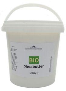 Bio Sheabutter 1 kg  Shea Butter  100% rein  (15,85/kg) 1000 g
