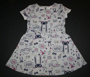 NEW-Gymboree-Gray-Doodle-Print-Skater-Dress-NWT-Size-3T-4T-5T-Cosmic-Club-Line