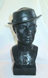 Bronze-Lost-Wax-Cast-Sculpture-Portrait-Bust-034-Civil-War-Soldier-034-Original