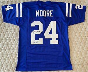 "Lenny Moore Signed Baltimore Colts Jersey Inscribed ""HOF 75"" (JSA COA)-FREE SHIP"