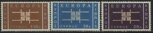 Cyprus-1963-Europa-set-of-3-mint-o-g