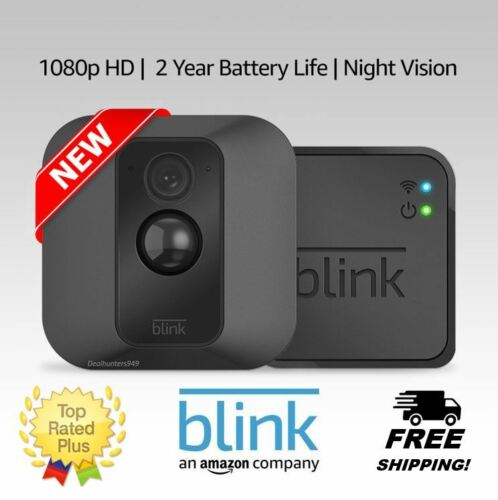 Blink XT Home Security Camera System Motion Detection Wall Mount Cloud Storage