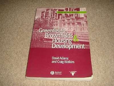 1 of 1 - David Adams GREENFIELDS BROWNFIELDS & HOUSING DEVELOPMENT 1st ed Blackwell PB