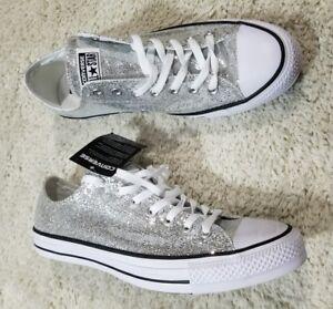 1e9eef01ef3d Converse Chuck Taylor All Star Ox Silver Glitter 135851C Unisex Men ...