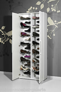 design schuhschrank extra gro f r paar schuhe wei hochglanz schuhregal ebay. Black Bedroom Furniture Sets. Home Design Ideas