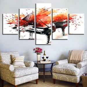Details About Piano Splash Painting Music Poster Canvas Wall Decor Home Decor Canvas Print