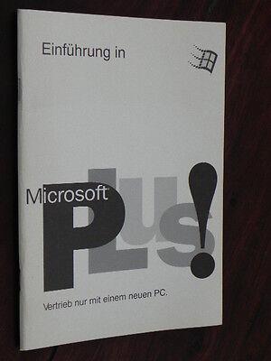Handbuch - Einführung In Microsoft Plus 1.0
