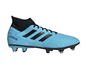 Dettagli su Adidas Uomo Calcio Scarpe Predatore 19.3 Morbido Terra Tacchetti Stivali EF8033