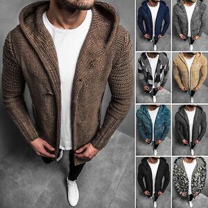 Details zu Strickpullover Strickjacke Kapuzenpullover Pullover Sweater Herren OZONEE MIX ★