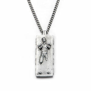 Star Wars Han Solo Carbonite Pendant Stainless Steel Necklace