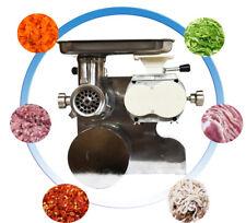 110v Commercial Desktop Cutter Meat Grinder Shredding Slicer Filling Sausage