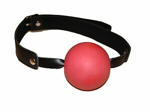EXTRA-LARGE-BALL-ballgag-GB-55-RED-FREE-UK-DELIVERY