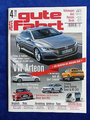 Audi Rs5 Vw Arteon Skoda Octavia Rs 245 Fabriken Und Minen Vw Audi Magazin Gute Fahrt 04/2017 Berichte & Zeitschriften