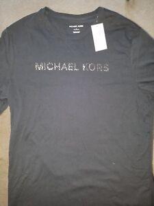 Details about Michael Kors Men's Black T Shirt . Size Large . NWT 100% cotton. $49.50 MSRP.