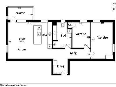 9000 vær. 3 lejlighed, m2 105, Tankedraget