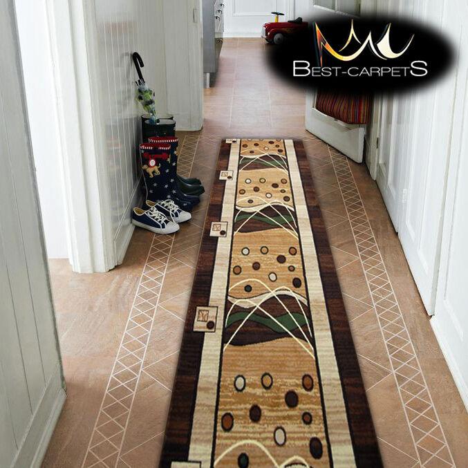 Épais hall runner heat heat heat set primo 4626 marron largeur 70-140cm extra long soft rugs | De Nouvelles Variétés Sont Introduites L'une Après L'autre  41881f
