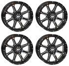 4 ATV/UTV Wheels Set 14in STI HD4 Gloss Black 4/110 5+2 IRS