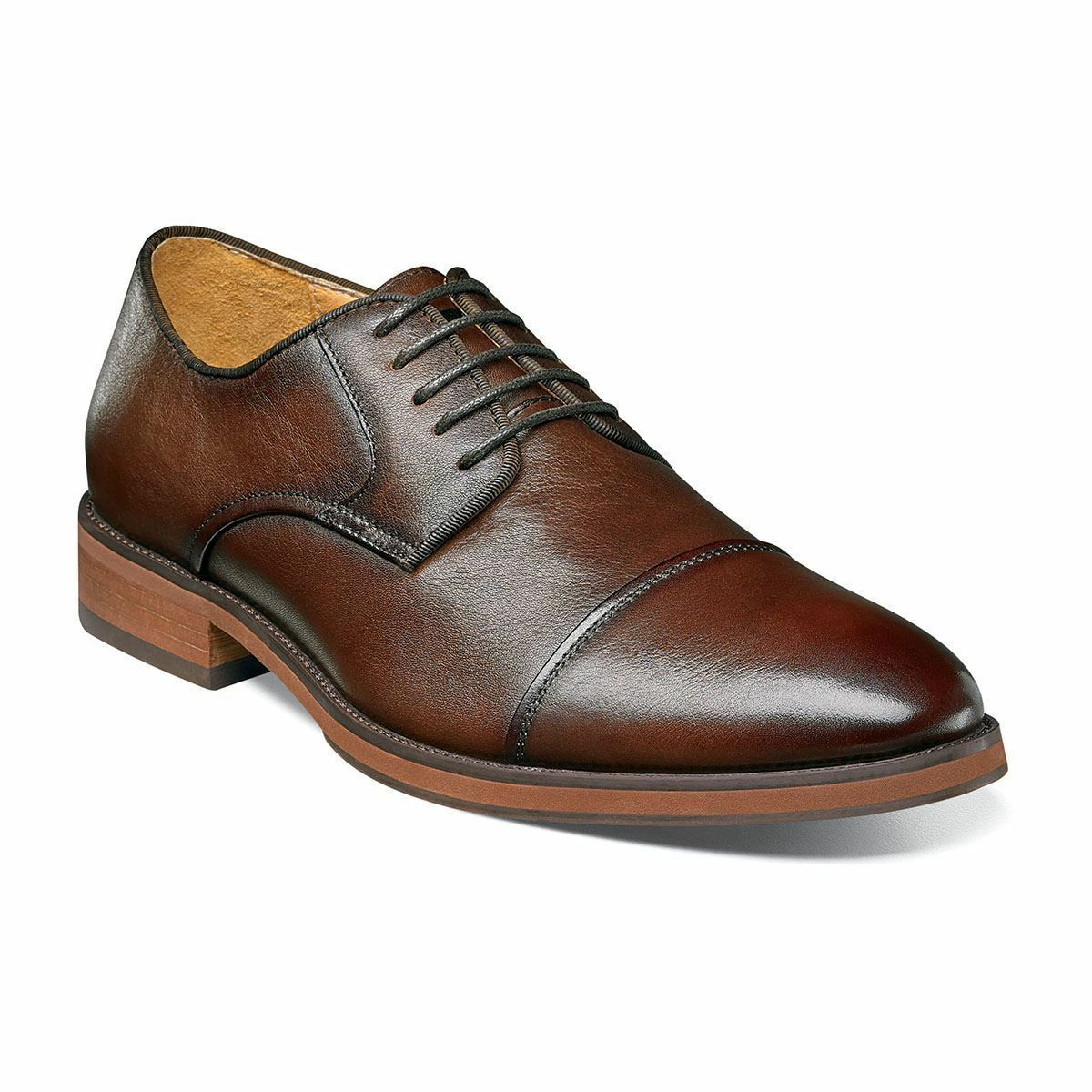 Florsheim Blaze Cap Toe Oxford Mens shoes Brown Leather Cushioned 14199-200