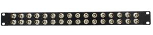 BNC Patch Panel 32 port black 1U