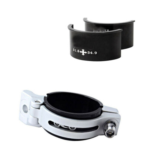 Front Derailleur Gear Clamp Adapter Shim Spacers 28.6 31.8 34.9mm  Black Alloy