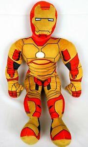 Iron-Man-3-Plush-Toy-26-in-Tall-Pillow-Soft-Stuffed-Orange-Yellow-Marvel