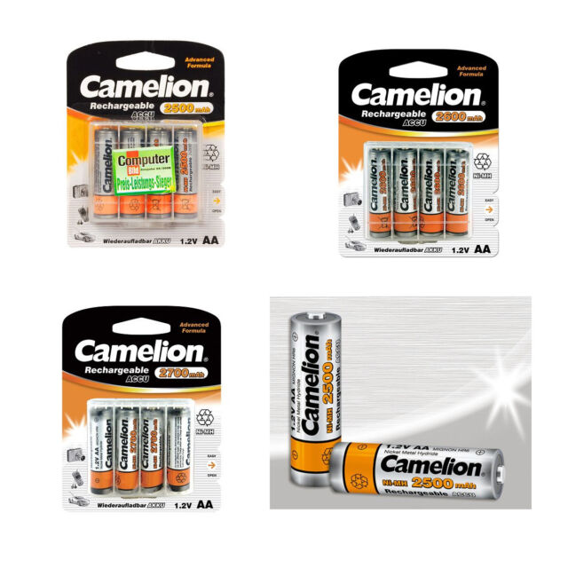 Camelion Battery Aa Mignon HR6 1.2V 1800-2700mAh 1.2V Rechargeable Ni-Mh Battery