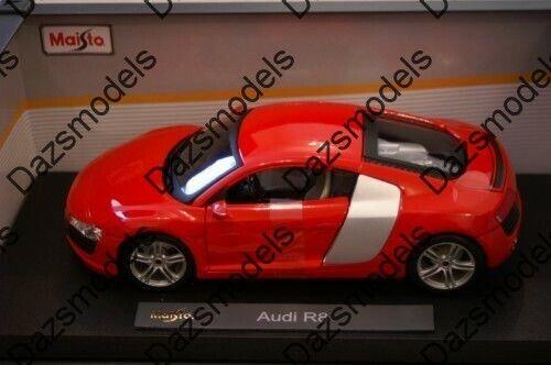 alta calidad Maisto Audi R8 Rojo Plata Plata Plata 1 18 Escala  directo de fábrica