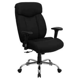 Big And Tall Office Chairs Hercules Series Black Farbric Chairs EBay
