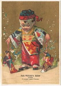 Faith-Whitcomb-039-s-Balsam-Asian-Boy-Puppets-Victorian-Trade-Card-Business