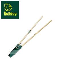 BULLDOG Wood Grip Garden Fence Post Hole Hand Digger Shovel/Twin Spade PHD