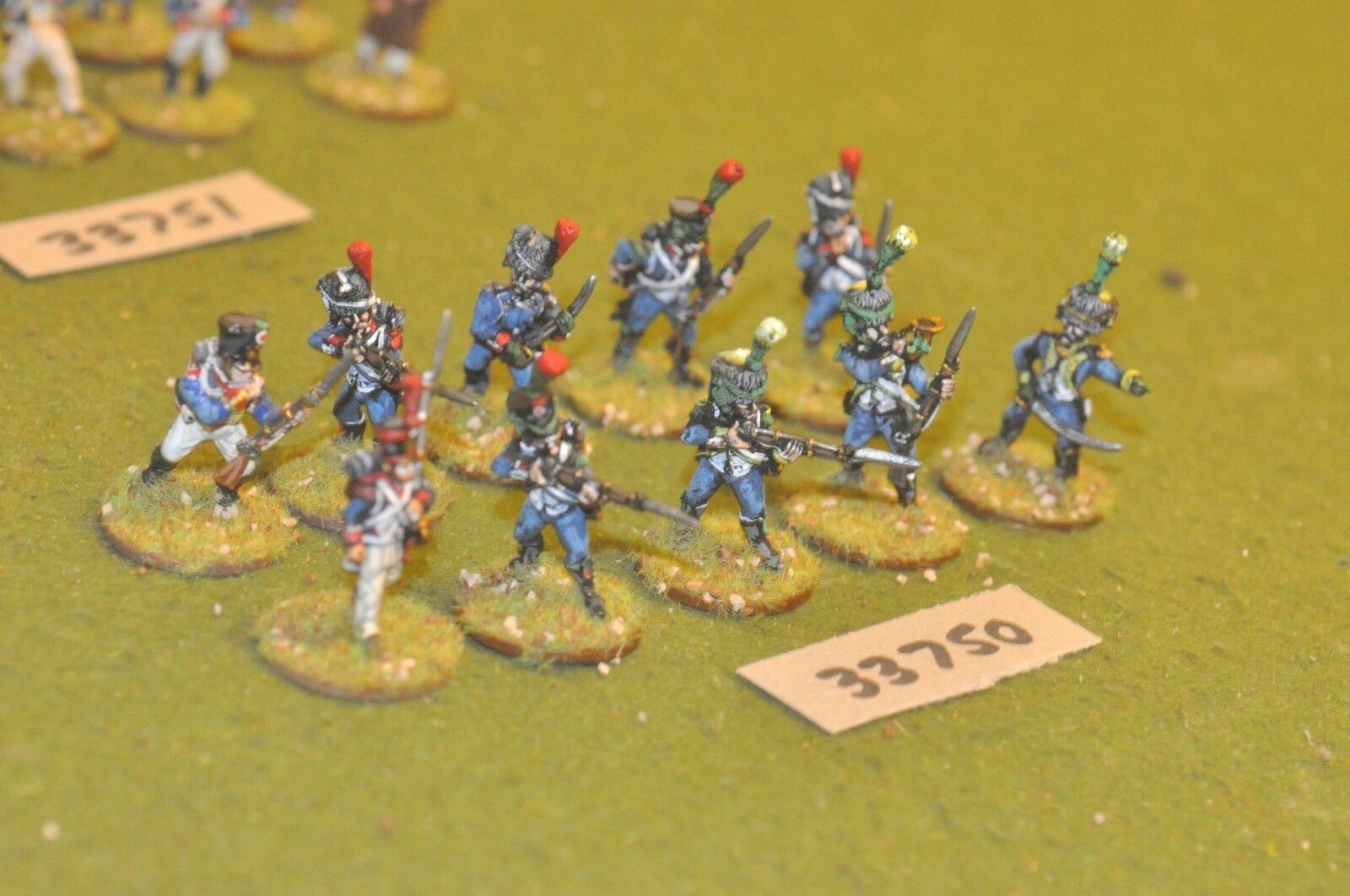 25mm napoleonic   french - light 10 figures - inf (33750)