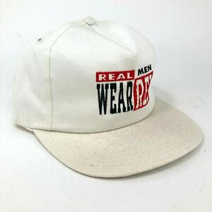 Vintage-Detroit-Red-Wings-Real-Men-Wear-red-USA-Snapback-Hat-White-Twill-O-S