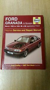 Ford Granada Mk3 Scorpio 1985 94 Haynes Workshop Manual 1245 Clean