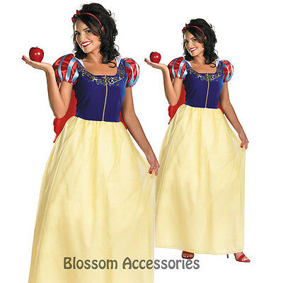 C536 Licensed Snow White Deluxe Disney Fancy Dress Halloween Costume Plus Size