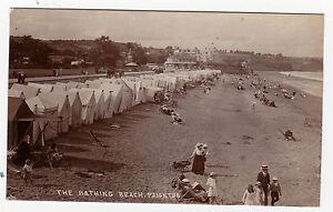 BATHING-BEACH-PAIGNTON-R-P-POSTCARD-SUPERB-EDWARDIAN-IMAGE