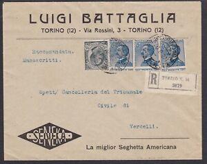 Italia-Regno-Raccomandata-1922-con-3x-25c-Michetti-varieta-dentellatura-spostat