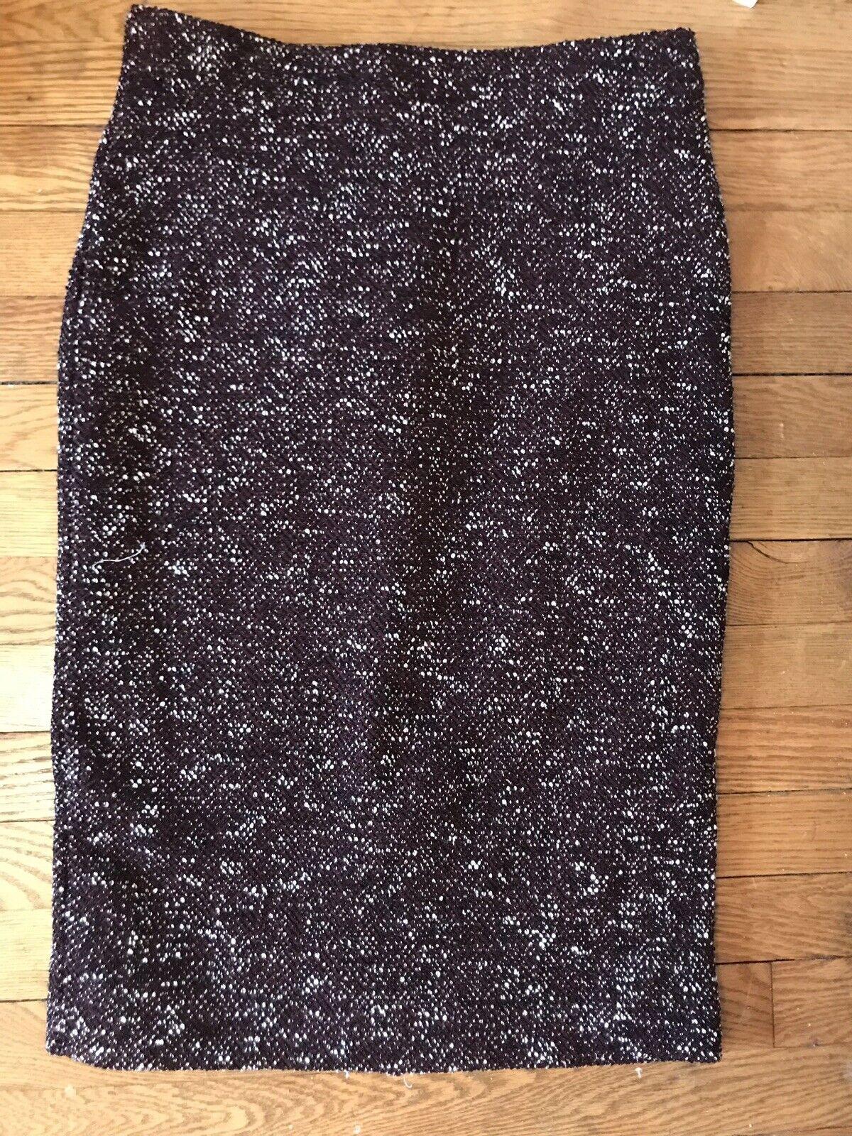 Ann Taylor Melange Knit Burgundy Career Skirt Women's Size 6  138.00