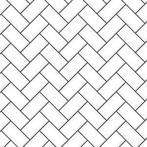 1:12 Scale A3 White Herringbone Tile Paper//Card Tumdee Dolls House Cladding 791