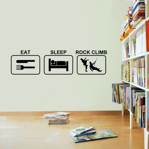 Eat Sleep Rock Climb Wall Sticker Vinyl Decal Decors Art Rock Climber Sticker