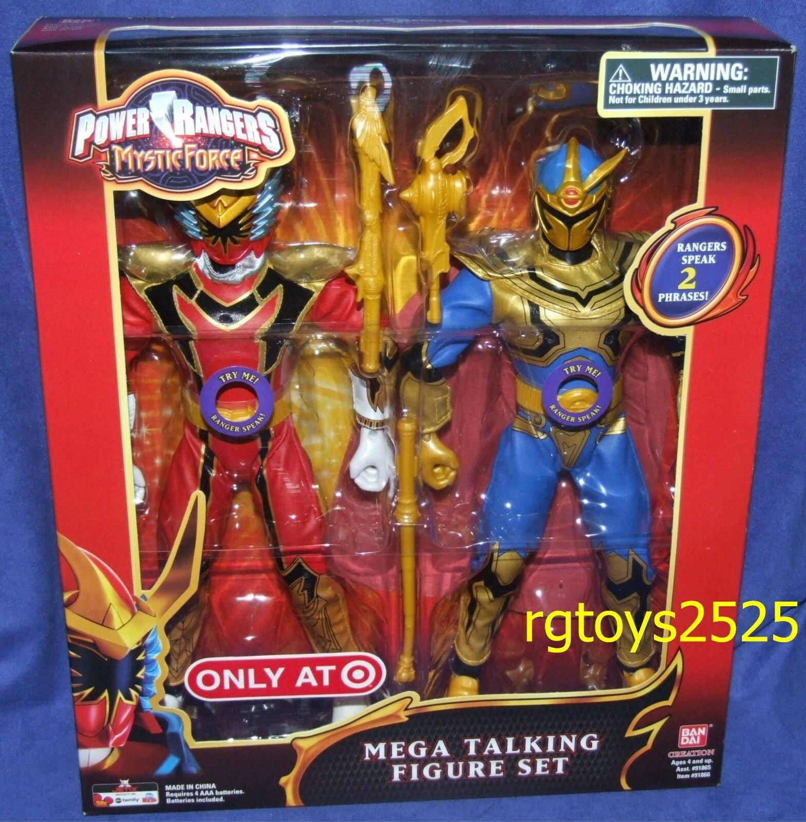 Power Rangers Mystic Force rosso Ranger & Solaris Knight 12 New Mega Talking Set