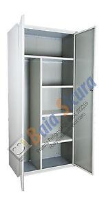 Armadio Portascope In Metallo Per Esterno.Armadio Portascope Bianco Metallo Detersivi Scope Metallico 180 80 Acciaio Ebay